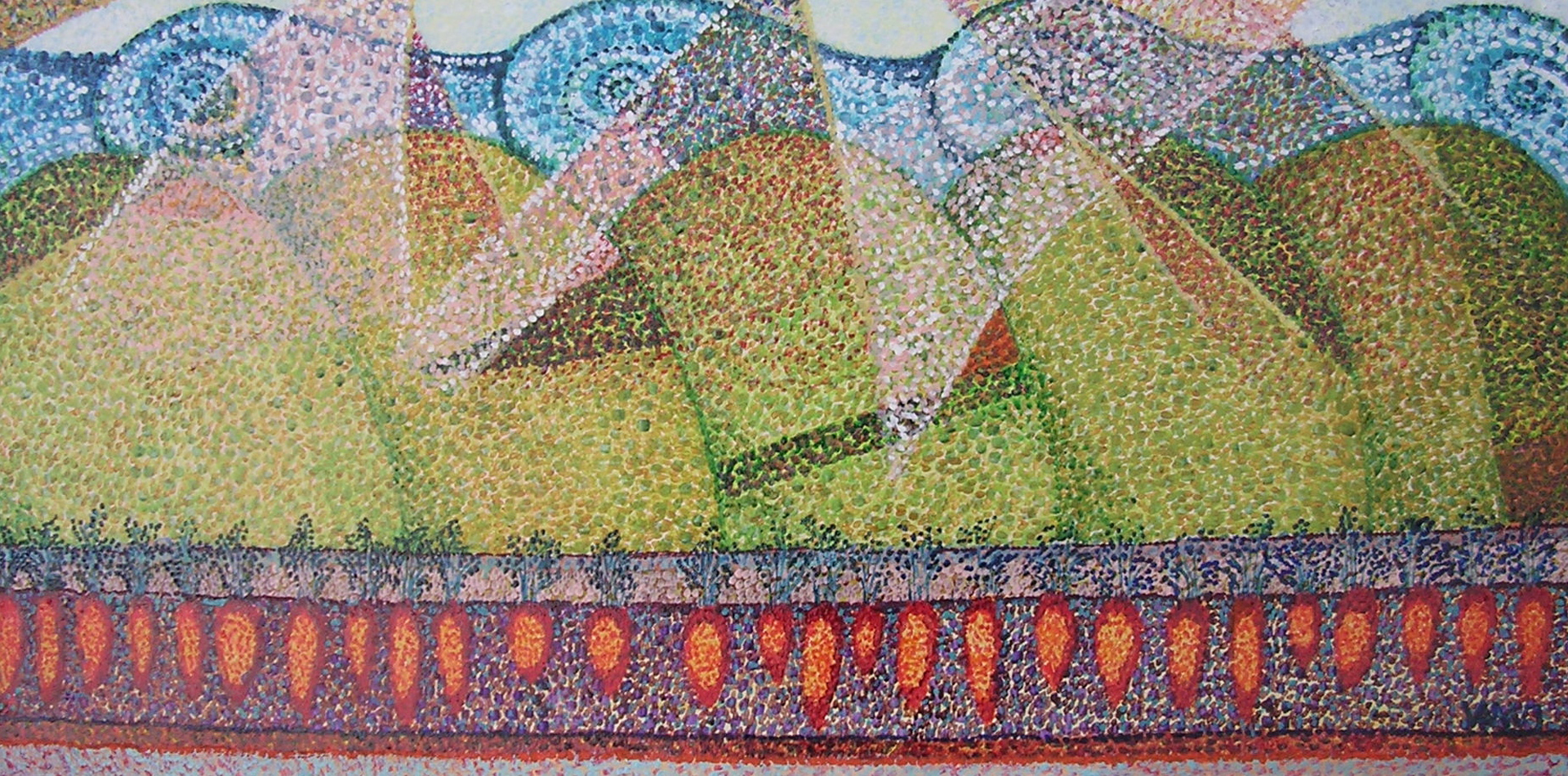 Paesaggio con campo di carote